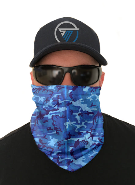 Water Camo Face Mask Sun Shield Bandana Gaiter Headware Balaclava