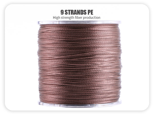 5 Colors PE Braided Fishing Line (500M/547YD) - 9 Strands
