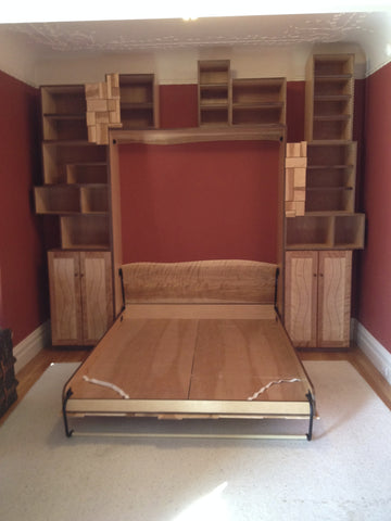 Murphy bed down