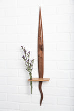 Walnut Squirly Tail Shelf