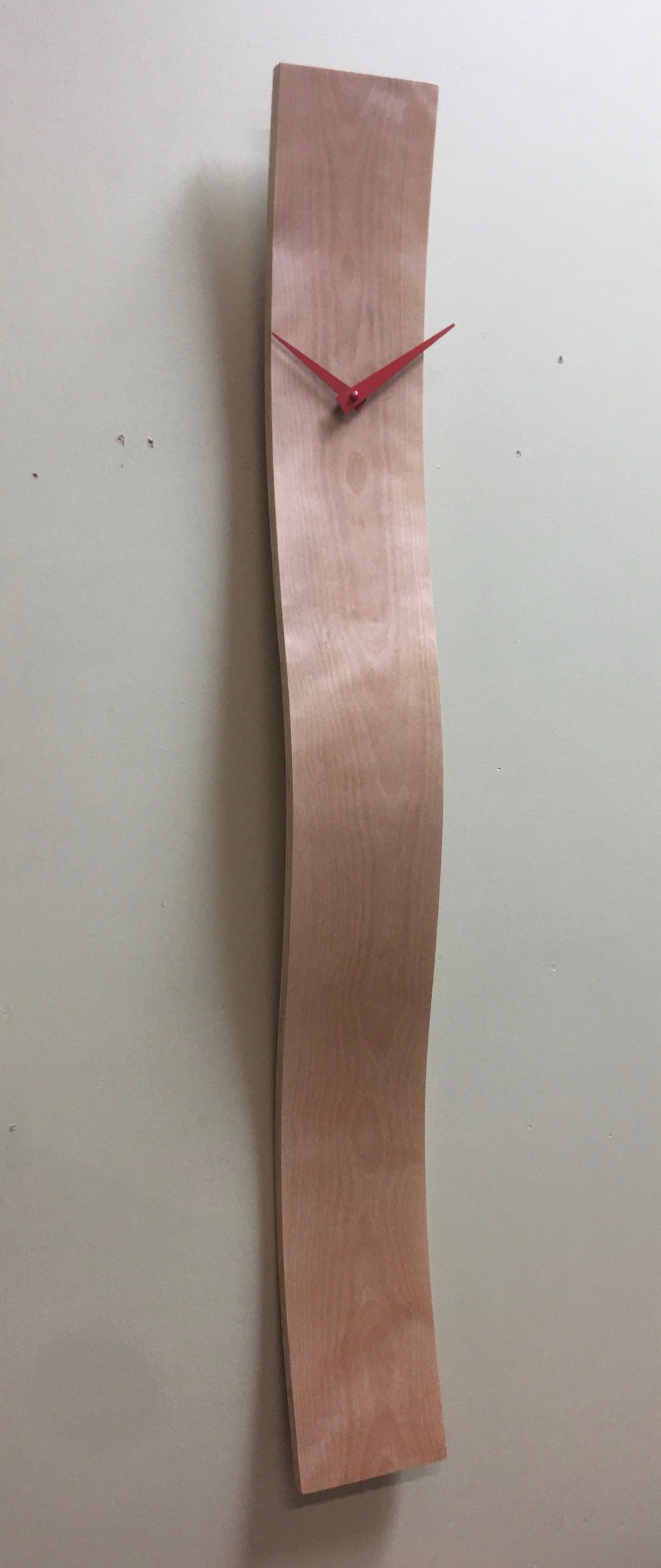 Flame Birch Wave Clock