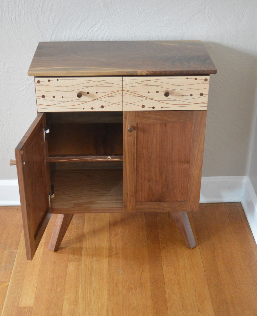 Book Matched Cabinet