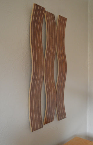 Walnut Wall Waves