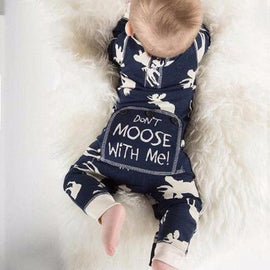 Baby Boys Don't Moose With Me Romper