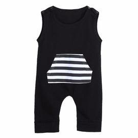 Baby Boys Patch Sleeveless Romper