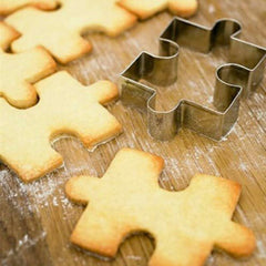 1Pcs Stainless Steel Cake Cookie Puzzle Shape Cookie Cutter Mold Cookie Tool