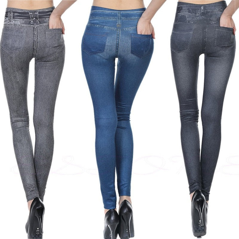 Imitation Denim Leggings