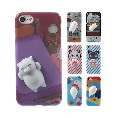 3D Cute Soft Silicone Squishy Animals iPhone Cases