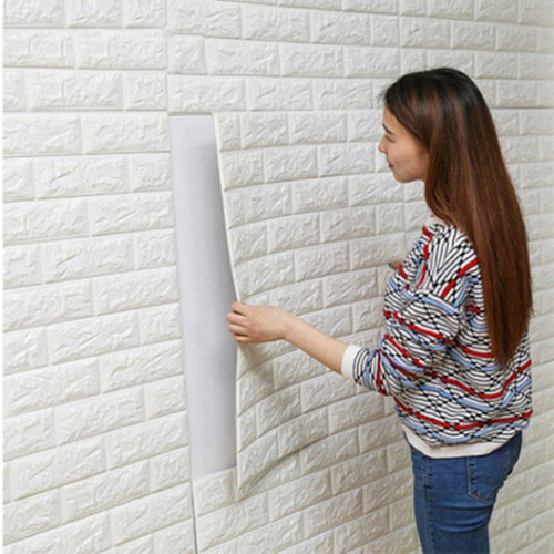 3D Brick Self-Adhesive Wallpaper