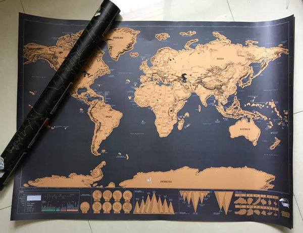 Scratch Off World Map Poster.Scratch Off World Map Poster Shopolis