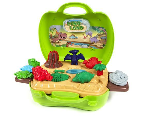 World Tech Toys Activity Dough Dinosaur 26 Piece Suitcase Playset