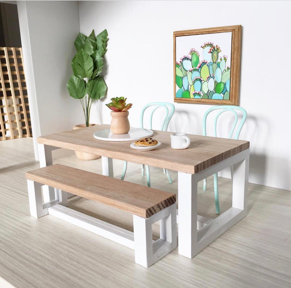 Whimsy Square Table & Bench (sold separately)