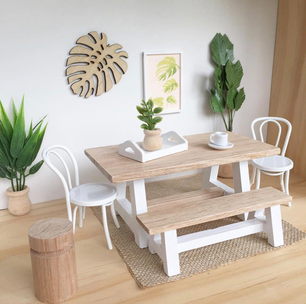 Whimsy A-Frame Table & Bench (sold separately)