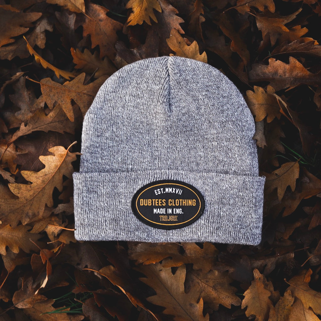 TRD.MRK BEANIE - HEATHER GREY