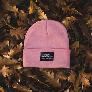 PATCH BEANIE - DUSTY PINK