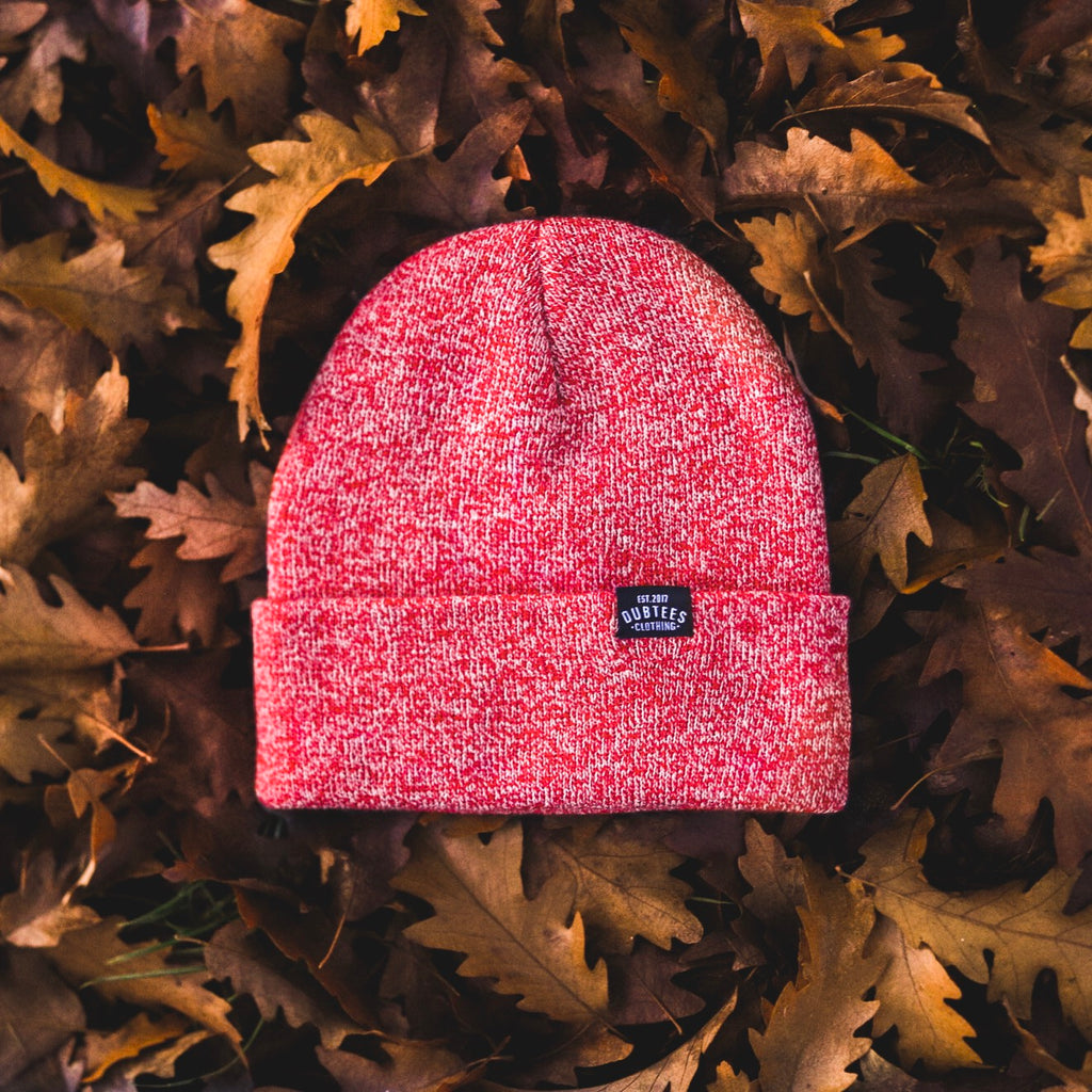 TAG BEANIE - HEATHER RED