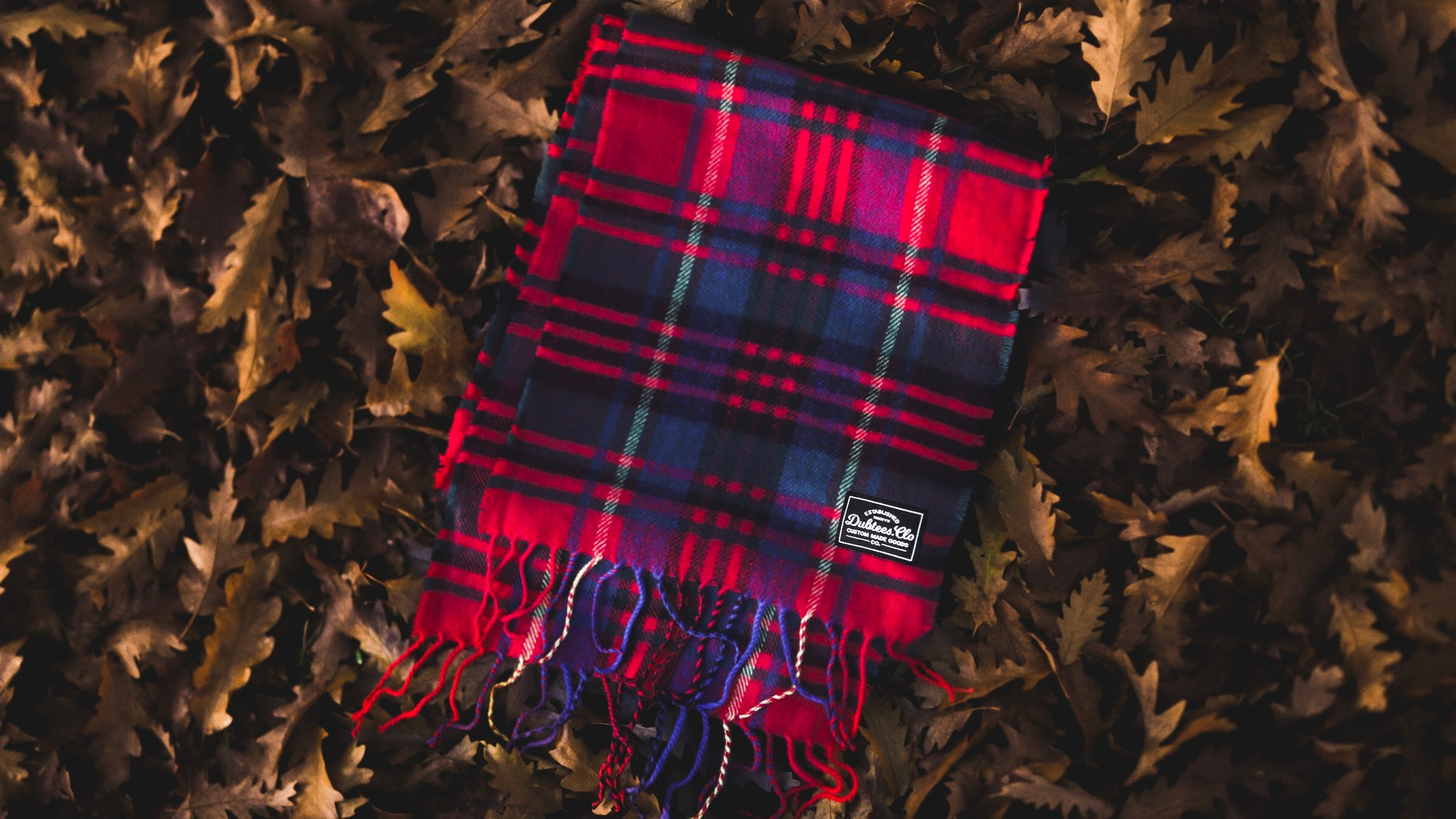 Dubtees.Clo Red Check Scarf