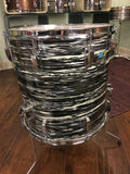 1972 Ludwig 16x16 Oyster Black Pearl Classic Floor Tom Drum 3 Ply
