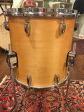 1980s Gretsch Square Badge 14X14 Floor Tom Natural Maple