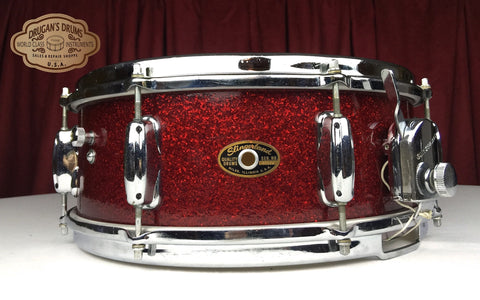 *No Longer Available* Vintage 1965 Slingerland Artist Snare Drum - Red Glass Glitter