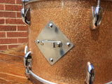 1960s Gretsch Round Badge 9x13 Name Band Champagne Sparkle Tom Drum
