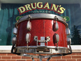 1953-56 Slingerland 7x14 Radio King Solid Shell Hollywood Ace Snare Drum Red Sparkle