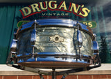 1960s Camco Oaklawn 5x14 Tuxedo Snare Drum Sky Blue Pearl