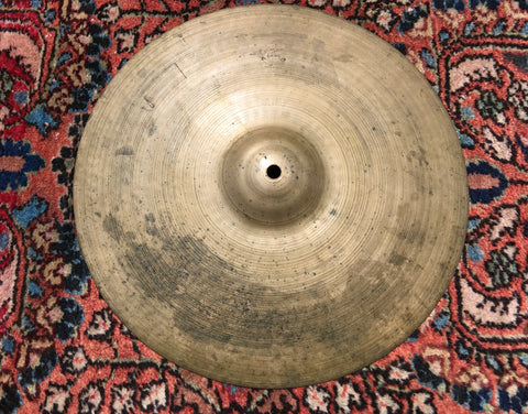 "14"" Early 1950s Zildjian A Trans Stamp Hi-Hat or Crash Cymbal 1266g #35"