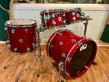 DW Collector's Series Maple Standard 4pc Drum Set Matador Red Lacquer 20/10/12/14