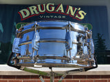 1960s Ludwig Chrome Over Brass Pre-Serial 5x14 Super 400 Supraphonic Snare Drum