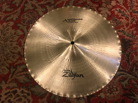 "14"" Zildjian A Mastersound Bottom Hi Hat Cymbal 1394g"