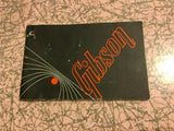 1960s / 1970s Gibson Warranty & Instruction Hang Tag Booklet Case Candy