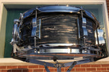 Ludwig 5.5x14 Jazz Fest LS9081Q 3-Ply Mahogany Snare Drum Vintage Black Oyster Pearl