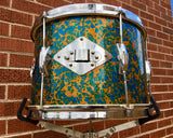 1960s Del Rey 9x13 MIJ Tom Drum - Blue/Gold Sparkle
