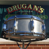 1970s Slingerland No. 140 5x14 Ribbed Aluminum Snare Drum