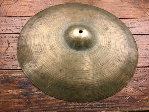 "14"" K Zildjian Istanbul Single Old Stamp IIa 1945-49 Hi-Hat / Splash ""G"" Gretsch Cymbal 688g #615"