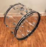 1970s Ludwig 14x24 Clear Vistalite Bass Drum, Great Condition!