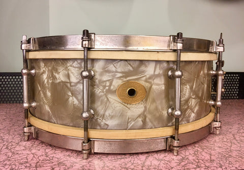 1935 Ludwig Standard 5x14 Lavender Pearl Snare Drum