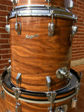 Early 1970s Rogers Celebrity Swivomatic Drum Set Koa 22/13/16