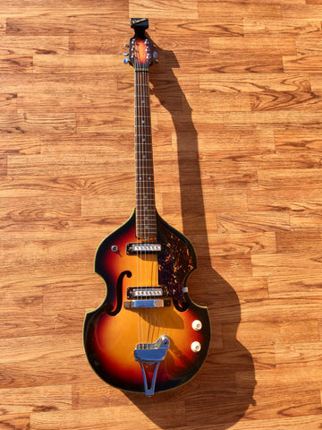 1970s Teisco Encore Violin Electric Guitar Sunburst - Norma, Greco, Kawai