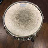 Early 1970s Ludwig 8x12 Oyster Black Pearl Classic Tom Drum 3 Ply
