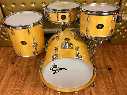 Gretsch Stop Sign Bop Drum Set 18/10/12/14/5x14 Snare Natural Maple