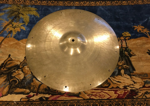 "18"" Zildjian A 1950s Large Stamp Crash Ride Cymbal w/ Rivets 1554g #556 *Sound File*"