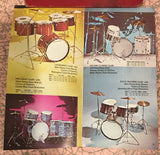 1976 Ludwig Atlas 5 pc. Hardware Package Swivel Feet Hi-Hat/Snare/3 Cymbal  Stands