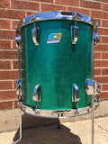 1970s Ludwig 14x14 Floor Tom Drum - Green Sparkle