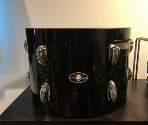 1970s Slingerland 9x13 Tom Drum Shell Black