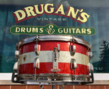 1961 Ludwig Pre-Serial # 6.5x15 School Festival Snare Drum Red Sparkle w/ Silver Sparkle Banding