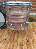 "Amazing Rogers Pink Strata Drum Set 24""/13""/14""/18"""