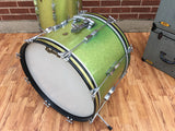 1965 Ludwig Keystone Club Date Drum Set Green Sparkle 20/12/14
