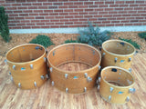 Vintage 1970 Ludwig John Bonham Natural Maple Thermo-Gloss Drum Set 26/14/16/18